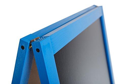 LAVAGNA A CAVALLETTO IN LEGNO Lavagnetta A Gessetti Con Cornice In Legno Blu FL BLUE
