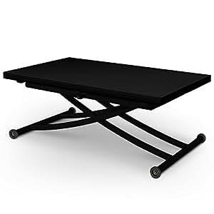 Table relevable Ilona Black laquee noir