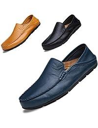 LSGEGO Hommes Mode Mocassins Business Chaussures Véritable Botte en Cuir  Respirant Courir Marche Bureau Casual Tous 4acb8ead11b8