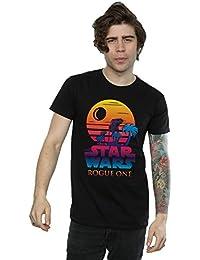 Star Wars Homme Rogue One Logo Sunset T-Shirt XX-Large Noir