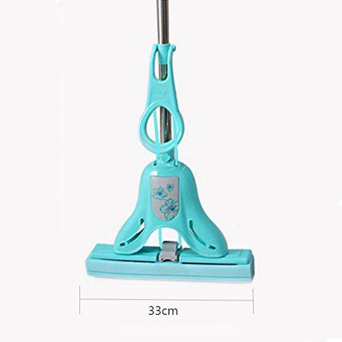 Assorbente eccellente professionista Doppia Foam Roller spugna della gomma piuma Mop Mop Roller pieghevole in plastica Estrusione tovagliolo ( colore : Verde )