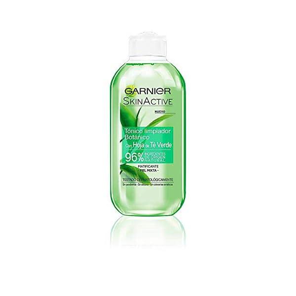 Garnier Skin Active Tónico Limpiador con Hoja de Té Verde – 200 ml
