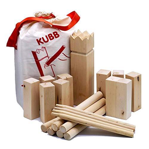 AfterGen Kubb Wikinger Schach Rasen Spiel All Wood Back Yard Games Kubb Game Premium Set Beach Games