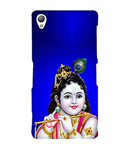 PrintVisa Lord Bal Krishna Kanha 3D Hard Polycarbonate Designer Back Case Cover for Sony Xperia Z3 :: Sony Xperia Z3 Dual :: Sony Xperia Z3 D6633