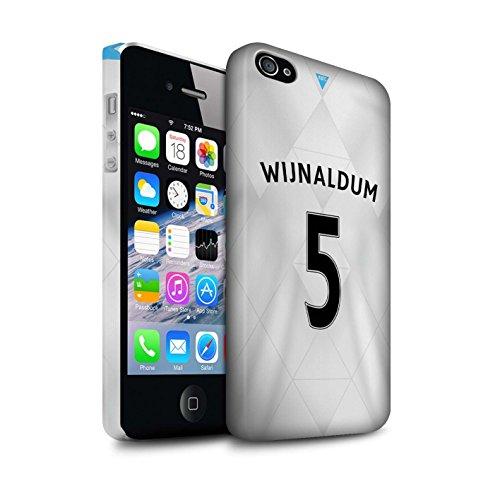 Offiziell Newcastle United FC Hülle / Matte Snap-On Case für Apple iPhone 4/4S / Tioté Muster / NUFC Trikot Away 15/16 Kollektion Wijnaldum