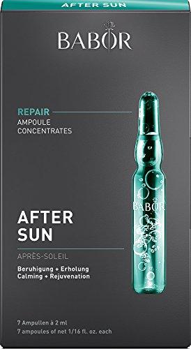 BABOR AMPOULE CONCENTRATES After Sun, Gesichtspflege nach dem Sonnenbad, mit Rosmarin-Extrakt, schützt vor freien Radikalen, pflegende Kühlung, 7 x 2 ml