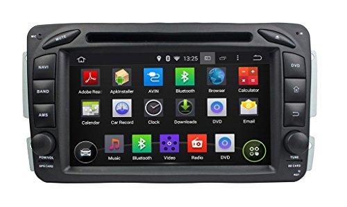 7 pollici Android 5.1.1 OS Lettore DVD dell'automobile per Benz CLK Class W170/E Class W210/A Class W168(1998-2001), Quad Core 1.6G Cortex A9 CPU 16G Flash 1G RAM DDR3 1024x600 GPS Radio Ingresso Aux OBD2