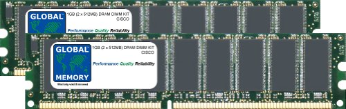 1GB (2x 512MB) DRAM DIMM Memory RAM KIT für Cisco 2851Router (MEM2851-256U1024D) - Router Memory Kit
