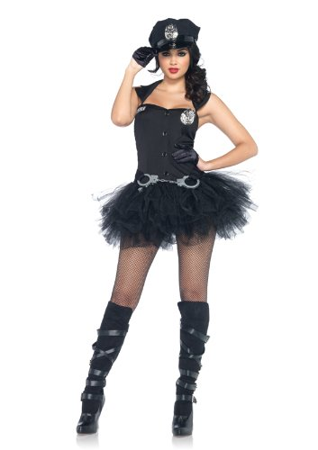 Leg Kostüm Avenue Polizei (Leg Avenue 85016 - Handschellenhoney Kostüm, Größe: M/L,)