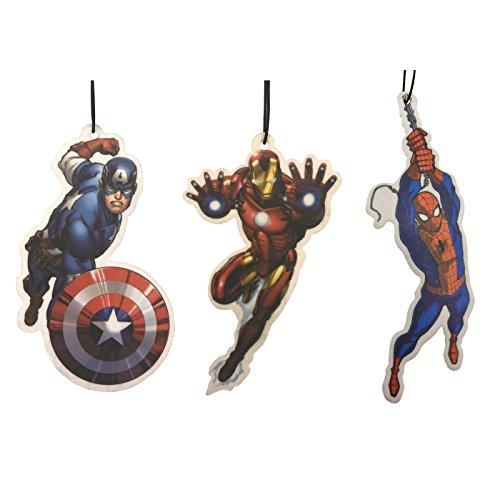 Preisvergleich Produktbild Marvel Avengers Auto-Lufterfrischer 3Pack–Captain America + Iron Man + Spiderman