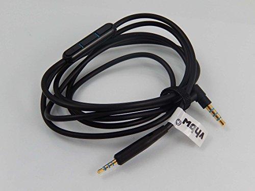 Preisvergleich Produktbild vhbw Kabel schwarz mit Mikrofon und Fernbedienung für Kopfhörer Bose Quietcomfort 25, QC25, QC-25
