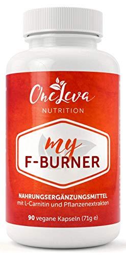 My F-Burner | 90 Kapseln | Natürlicher Fatburner | Grüner Kaffee | Grüner Tee | Guarana | Abnehmen mit L-Carnitin | Made in Germany
