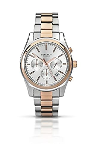 Sekonda Men's Quartz Watch with Silver Dial Chronograph Display and Two Tone Stainless Steel Bracelet 3486.71