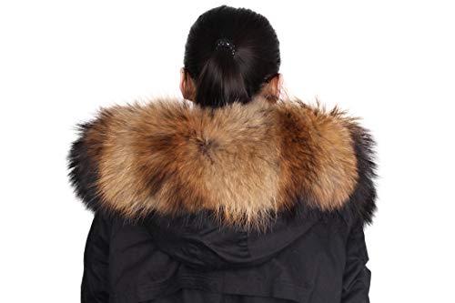 De Dancel Mujer mantš®n de la piel de la bufanda de cuello del abrigo de invierno o bordes con capucha...