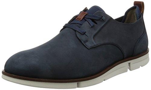 Clarks Herren Trigen Lace Derby, Blau (Navy Nubuck), 45 EU (Schuhe Casual Clark)