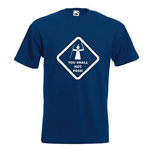 KIWISTAR - You shall not pass! T-Shirt in 15 verschiedenen Farben - Herren Funshirt bedruckt Design Sprüche Spruch Motive Oberteil Baumwolle Print Größe S M L XL XXL Navy