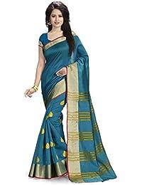 Venisa Cotton Saree (Rp1002_Blue)