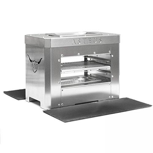 Preisvergleich Produktbild Asteus KS0358 ASTEUS Steaker Elektro-Infrarotgrill mit Schieferplatten