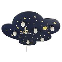 Niermann Standby Wood Ceiling Light, Cloud Little Prince, E14, Black