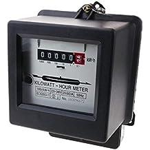 BeMatik - Contador medidor de electricidad monofásico 20A 230V 50Hz de plástico negro 80A máx.