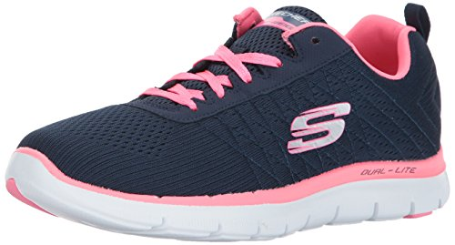 Skechers Women's Flex Appeal 2.0 Low-Top Sneakers, Navy/Hot Pink, 5 UK 38...