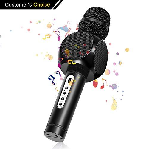 Karaoke Bluetooth Mikrofon,NASUM tragbares und drahtloses Mikrofon Musik Spielen und Singen für Erwachsene und Kinder kompatibel mit Android /IOS, PC oder All Smartphone