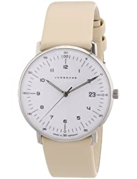 Junghans Damen-Armbanduhr XS Max Bill Analog Quarz Leder 047/4252.00