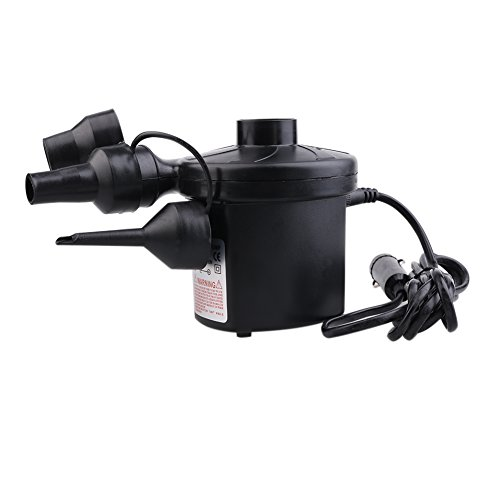 Preisvergleich Produktbild Dada tragbar DC elektrische Luftpumpe, Volumenpumpe/Deflator Elektrische Pumpen mit 3Düsen für Air Bett luftobjekte-Air Matratze Raft Bett Boot Pool Spielzeug