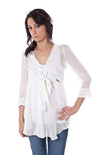 John galliano 34 vr7615 68318 camicia maniche corte donna bianco r012 42