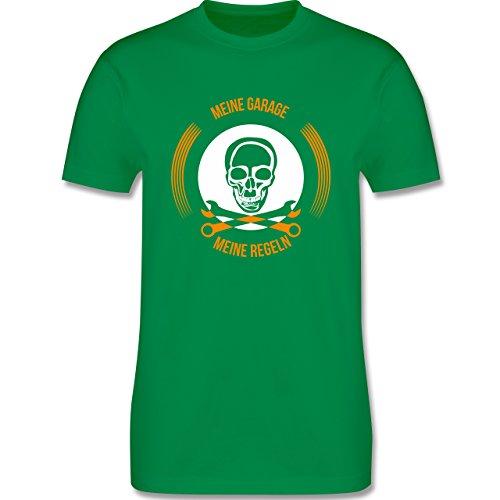 Statement Shirts - Meine Garage meine Regeln - Herren Premium T-Shirt Grün