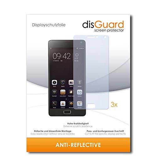 disGuard® Bildschirmschutzfolie [Anti-Reflex] kompatibel mit Lenovo Vibe P1 [3 Stück] Entspiegelnd, Matt, Antireflektierend, Extrem Kratzfest, Anti-Fingerabdruck - Panzerglas Folie, Schutzfolie