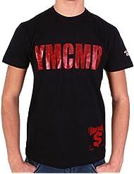 Tshirt YMCMB Classic noir, rouge brillant