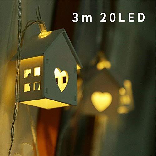 LED Flaschenlicht Kupferdraht Weinflasche Nacht Deko, 10 LED / 20LED Holzhaus LED Batterie Lichterketten, Holz LIEBE Herz Party Dekoration, String Beleuchtung für Innen Schlafzimmer Wohnzimmer