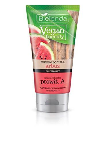 Bielenda Vegan Friendly Wassermelon Zucker Körperpeeling mit Provitamin A 200ml - Kokos Duftende Massage-Öl