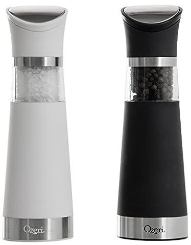 Ensemble de moulins à sel et à poivre électriques Graviti Pro, sans BPA
