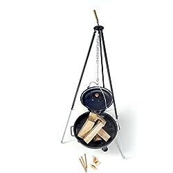 acerto Ungarischer Gulaschkessel 22 Liter + Dreibein-Gestell 180cm + Feuerschale 80cm