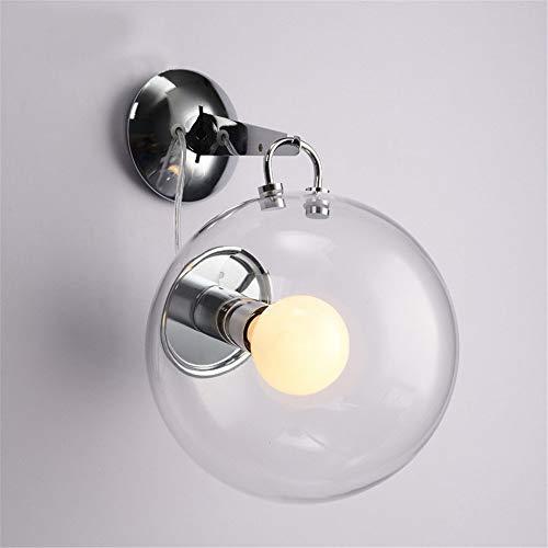 Xhcp lampada da parete moderna semplice, illuminazione della parete del balcone del corridoio, lampada da comodino della camera da letto, lampada da parete a bolle di sapone di vetro (senza lampa