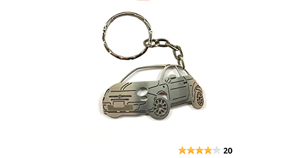 3dcrafter Fiat 500 Stainless Steel Keyring Key Fob Keychain Great For Gift Laser Cut Schlüsselanhänger Schuhe Handtaschen