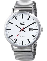 MC Timetrend Herren-Armbanduhr, im Bahnhofsuhr - Look, Analog Quarz, Messing-Flexband 27679