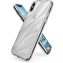 Cover iPhone X, Ringke Flow [Clear] Minimalista ondulato strutturata Assorbimento Shock TPU Forma leggera Goccia Protezione resistente Protezione trasparente Custodia per Apple iPhoneX - Chiaro