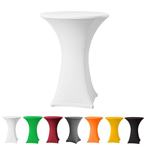 Stehtischhusse Stretch in Farbe weiß und Durchmesser 60-65 für Bistrotisch/Stehtisch