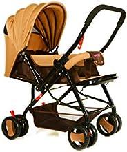 عربة اطفال مع مظلة من بيبي بلس BP7732 ، كاكي- قطعة واحدة
