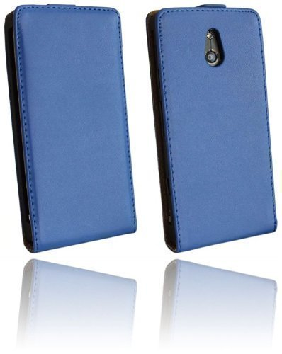 Handytasche Flip Style für Sony Xperia P (LT22i) in Blau Klapptasche Hülle @ Energmix