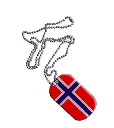 Dog Tag / Erkennungsmarke / Kette Norwegen - 3 x 5 cm