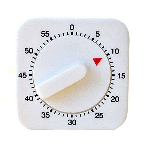 iTemer Küchentimer mechanische Küche Timer Analog Kurzzeitwecker Zeitschaltuhr Erinnerung Kurzzeitmesser weiß 1 Stück