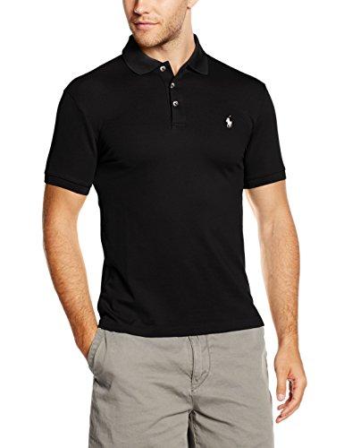 Polo Ralph Lauren Herren Poloshirt SS KC SLFIT MDL 1, Gr. Small, Schwarz (POLO BLACK A00PB)