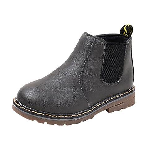 Kinder Schuhe, FEITONG Jungen Mädchen Martin Stiefel Casual Sneaker Outdoor Schuhe (30, Grau) (Golfschuhe Kinder 30)