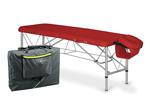 Lettino Per Massaggio Portatile In Alluminio.Lettino Da Massaggio Portatile Aero 60 Leggero Alluminio Rosso Rot Lunghezza 165 Cm 195 Con Cuscino Per Viso Larghezza