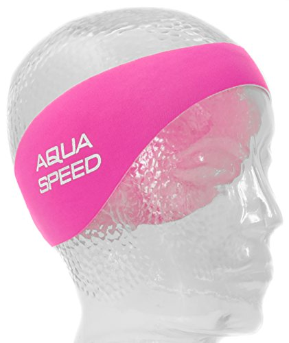 Aqua Speed EARBAND JR. Stirnband aus Neopren für Kinder | Schwimmstirnband | Rosa | Blau | 50 cm | Schwimmstirnband | Haarband, Farbe:pink