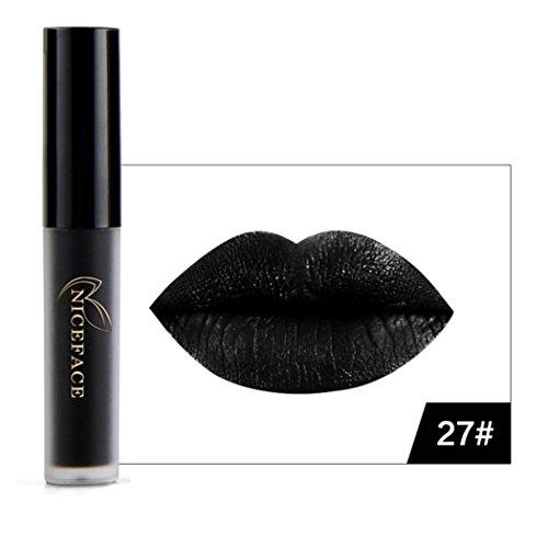 Belleza superior Halloween estilo labios lencería mate líquido Pintalabios impermeable brillo de labios maquillaje